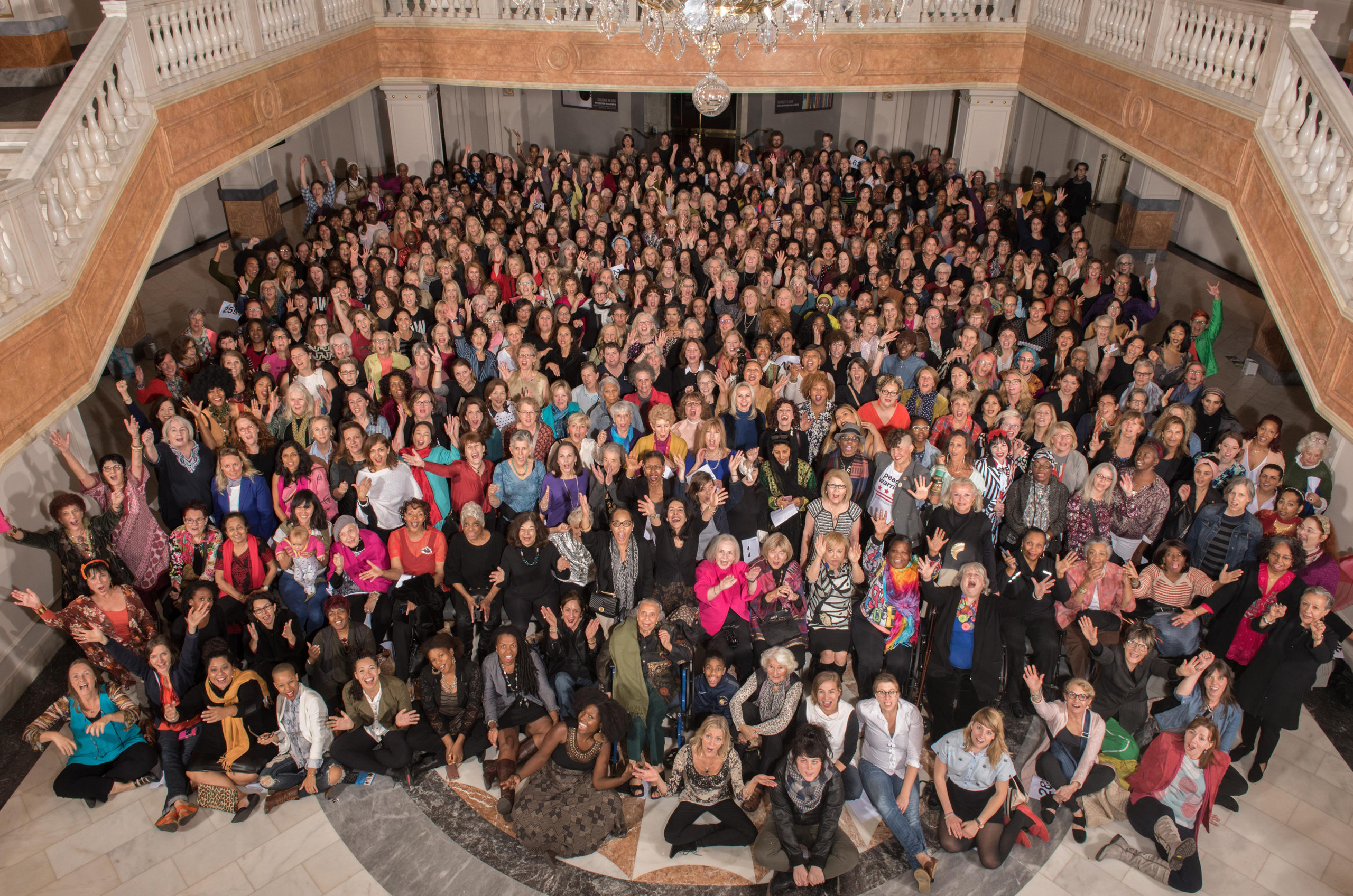 Now Be Here #4, DC/MD/VA, (2017) Photo by Kim Johnson; Courtesy of Kim Schoenstadt, linn meyers and the National Museum of Women in the Arts, Washington, D.C.