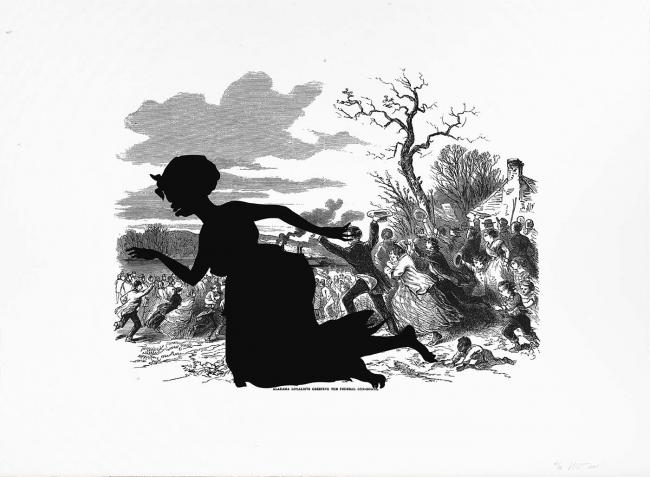 Kara Walker, Alabama Loyalists Greeting the Federal Gun-Boats, from the portfolio Harper's Pictorial History of the Civil War (Annotated), 2005