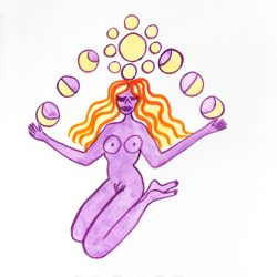 Amy_Chaiklin_She_is_sending_Moonlight_for_healing_to_Mother_Earth_ink_on_paper_11x8_inches_28x20cm_2020_jpg