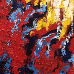 Splash of Color 2-30x30 Acrylic by Patricia Beltran